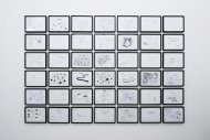 Untitled, 2006-2008, 42 drawings, framed, each 28 x 37 cm
