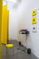 Angela Bulloch - Universal Pixels and Music Listenings Stations, Installation Shot, Kerstin Engholm Galerie, 2014