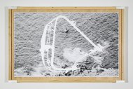 Reissbrett Nr. 92 (Finisterre) (Drawing board No. 92 [Finisterre]), 2006/07, various materials, 106,8 x 165 x 5,6 cm